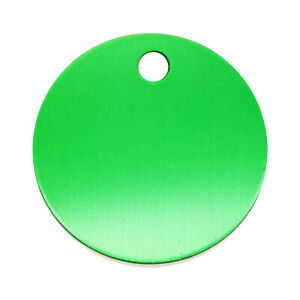 10 pcs Round ID Tag Metal For Cat Dog Pendant Name Identity Collar Charm 30mm