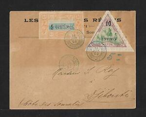 SOMALI COAST TO FRANCE COVER SC# 28x 2 STAMPS 1902 CV $600.00
