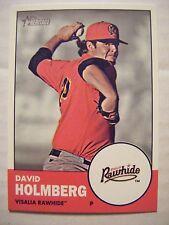 DAVID HOLMBERG 2012 Topps Heritage Minors baseball card #91 REDS BRAVES DBACKS