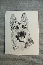 German Shepherd Pen and Ink Stationary Cards, Note Cards, Greeting Cards. 10 ct.