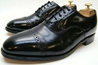 MENS JOHNSTON MURPHY HERITAGE BLK LEATHER CAPTOE OXFORD DRESS SHOES SZ 9.5~1/2 E
