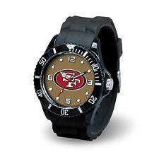 San Francisco 49ers NFL Football Team Men's Black Sparo Spirit Watch