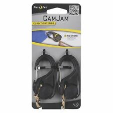 Nite Ize CamJam Cord Tightener 2-Pack w/ Rope Lightweight Sturdy Durable Plastic