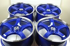 17 blue Wheels Rims TSX Jetta Prius Corolla Civic Optima Soul RAV4 5x100 5x114.3