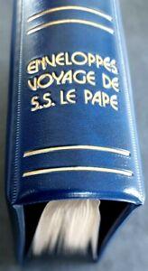 SPLENDIDE ALBUM COLLECTION = Classeur + 70 enveloppes Voyages Pape Jean-Paul II