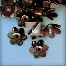 55Pcs Plated Flower Bead Caps Jewelry Findings Craft Spacer Charm Antique Copper