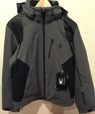 NWTs Spyder Men's Vanqysh Insulated Ski Jacket. Size Large. Polar/Black. $650