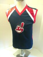 Cleveland Indians Boys Chief Wahoo Sewn Logo Large Sleeveless Pullover Shirt New