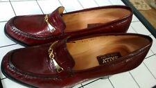 Bally Vintage Brown Leather Block Heels Round Toe Block Pumps Heels Irene sz 10