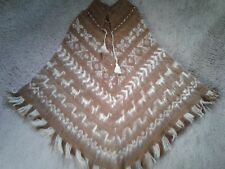 Womens one size fits all bohemian wool poncho
