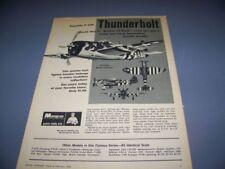 "VINTAGE..1968 MONOGRAM ""P-47D THUNDERBOLT""..1-PAGE SALES AD...RARE! (119S)"