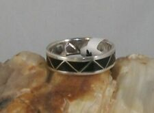 Onyx Inlay Band Ring, size 13