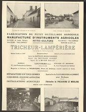 27 LOUVIERS LE NEUBOURG MANUFACTURE TRICHEUR LAMPERIERE PUBLI-REPORTAGE 1924