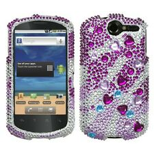 For AT&T Huawei Impulse 4G Crystal Diamond BLING Case Phone Cover Star Cluster
