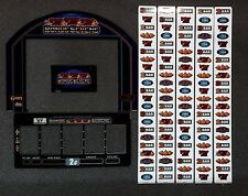 "Bally Alpha Stepper Slot Machine BONUS SEVENS 15"" Top LCD Glass Kit w/ Strips"
