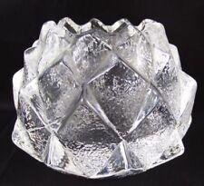 Vintage Original Crystal Candle Holder Scandinavian Art Glass