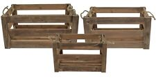 east2eden Brown Vintage Farm Shop Style Wooden Slatted Apple Crate Display in of