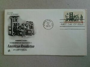 US FDC  Rising of the Spirit of Independence 1973. Portland