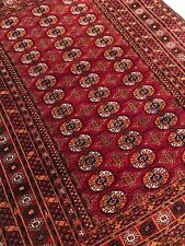 """4'5""""x 5'9"""" Antique Cherry Red Hand-knotted Tekke"""