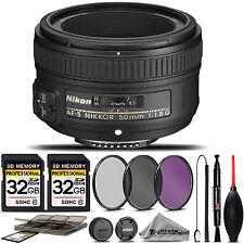Nikon AF-S NIKKOR 50mm f/1.8G Lens 2199 + 3PC FILTER + 64GB STORAGE BUNDLE KIT