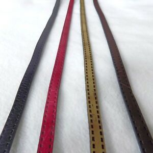 Stephanoise Faux Leather Strap Handle Belt Trim with Stitch Detail 1cm 10mm wide