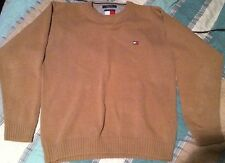 Vtg 90S Tommy Hilfiger Flag Sweater L Polo Sport Rugby Spell Out Colorblock USA