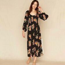 $248 CHRISTY DAWN McCartney Dress Black Floral Rose Sz S EUC