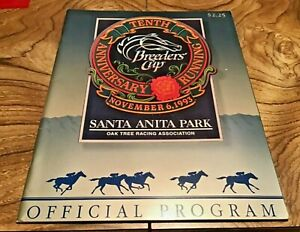 1993 BREEDERS CUP HORSE RACING PROGRAM - 10TH ANNIVERSARY SANTA ANITA PARK!