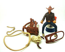 o21) Schleich Farm Cowboy Rider Cowboy Riding Set Rider Schleich Animal