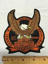 Harley-Davidson Patch Eagle 90 Years Motorcycle Biker USA Bike Rally Chopper Bar