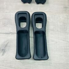2 x Black Nintendo Wii Controller Rubber Silicone Cover Grip Sleeve RVL-022
