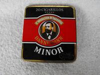Vintage Rare Dannemann Minor Cigarettes Tin Box, Collectible Empty #1208