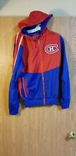NHL Montreal Canadiens Old Time Hockey Sewn Hooded Full Zip Jacket Adult S EUC