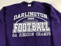Darlington Football Sweatshirt Adult Medium Rome Georgia Champs 2009 Tigers Grad