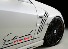Sports mind Powered by Motorsport Racing Performance Vinyl Decal sticker logo