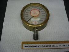 """Us Gauge 5"""" 0 to 15,000 psi brass pressure gauge"""