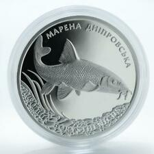 Ukraine, 10 hryven, Marena Barbus Borysthenicus, silver proof coin 2018