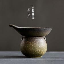 Ocean Reef Fine Mesh céramique Gongfu thé passoire et bac à égouttoir