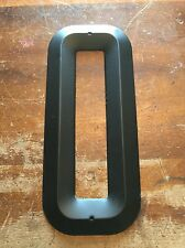 """NOS USA Vintage METAL LETTER """"O"""" Wall Art Industrial Salvage Marquee Sign Black"""