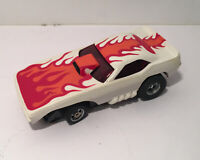 Aurora AFX HO slot car Fire Chief Red Flame Screecher w Chassis Slotless