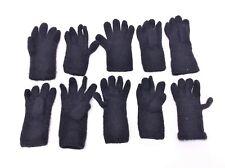 Mixed Vintage Lot Black Portolano & Unbranded 100% Cashmere Ladies Gloves Small