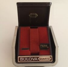 Scatola Bulova Quartz Vintage Watch Box 11 cm