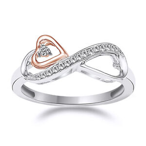 0.15 CT Simulated Diamond Heart Promise Ring