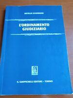 L'ORDINAMENTO GIUDIZIARIO-M.Scaparone-ed. Giappichelli Torino -(Rif. 2)