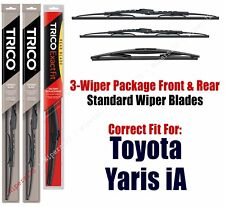 3-Pack Wipers Front/Rear Standard fit 2017 Toyota Yaris iA 30221/170/14B