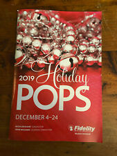 Boston Pops HOLIDAY POPS CONCERT PROGRAM 2019 Keith Lockhart Polar Express