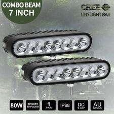 Pair 7 inch 80W CREE LED Light Bar SPOT FLOOD Reverse Work Driving Fog 12V 24V