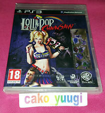 LOLLIPOP CHAINSAW NEUF SOUS BLISTER SONY PS3 VERSION 100% FRANCAISE