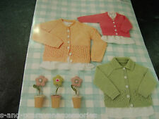Sirdar Snuggly 4 Ply Yarn, Knitting Pattern 4638 Birth to 7 Years