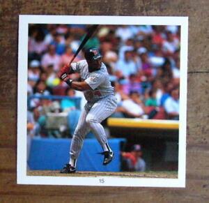 """Kirby Puckett #15 Sticker 1991 Hit Men 2.5X2.5"""" Cut Photo Mint Oddball"""